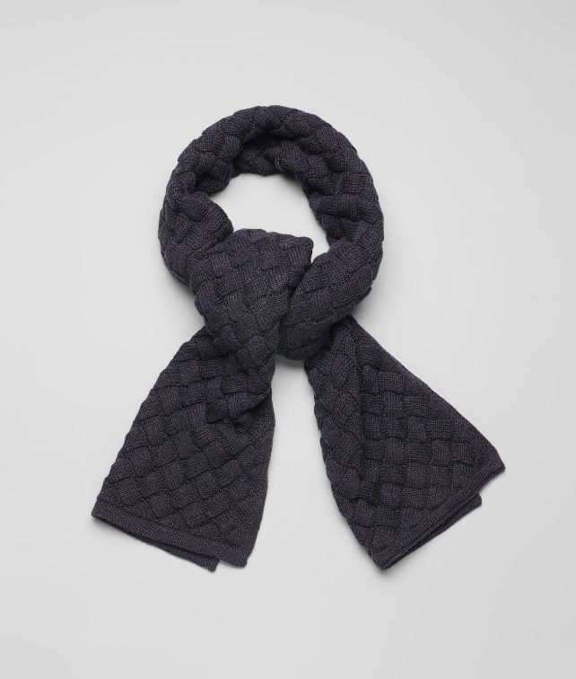 BOTTEGA VENETA Navy Wool Scarf Scarf or Hat or Glove U fp