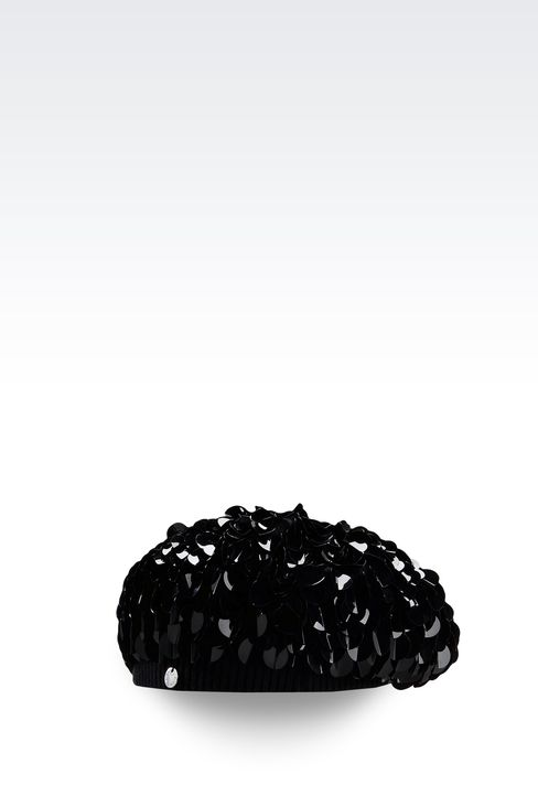 BERET WITH SEQUINS: Hats Women by Armani - 1