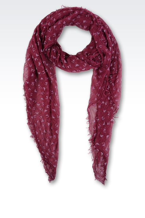SCARF WITH ALL OVER LOGO: Scarves Women by Armani - 1