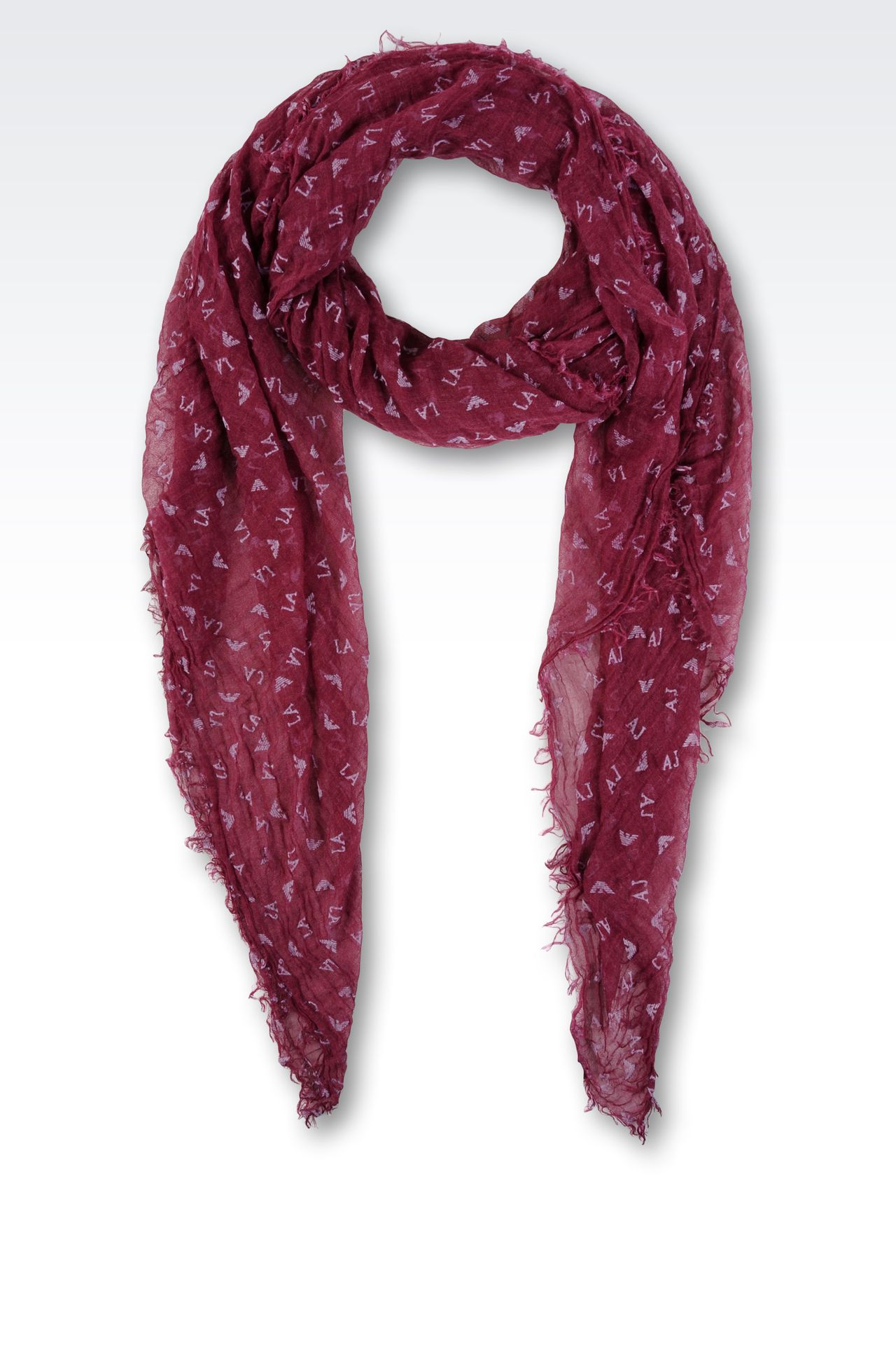 SCARF WITH ALL OVER LOGO: Scarves Women by Armani - 0