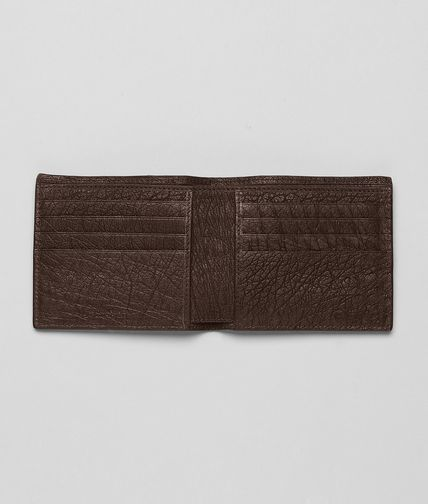 BOTTEGA VENETA - Cioccolato Antique Ostrich Wallet