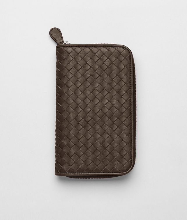 Edoardo Intrecciato Nappa Zip Around Wallet