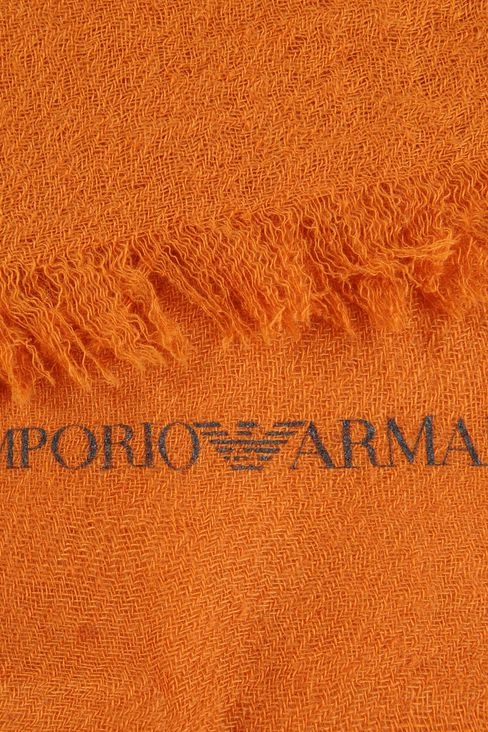 CASHMERE SCARF WITH FRINGE: Scarves Men by Armani - 3