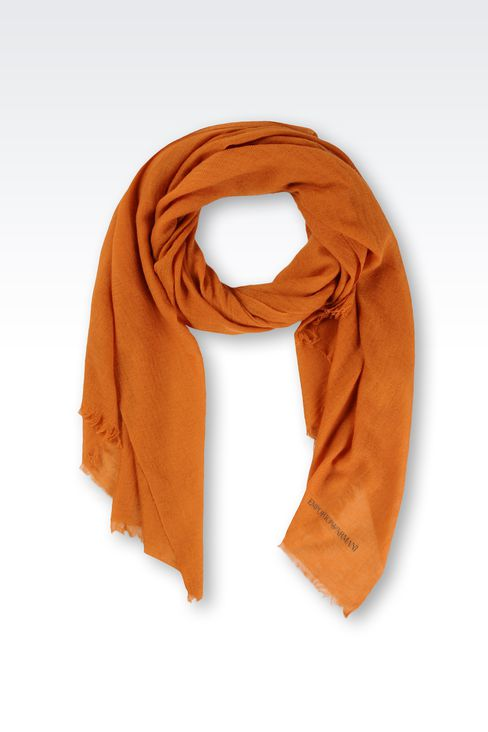 CASHMERE SCARF WITH FRINGE: Scarves Men by Armani - 1