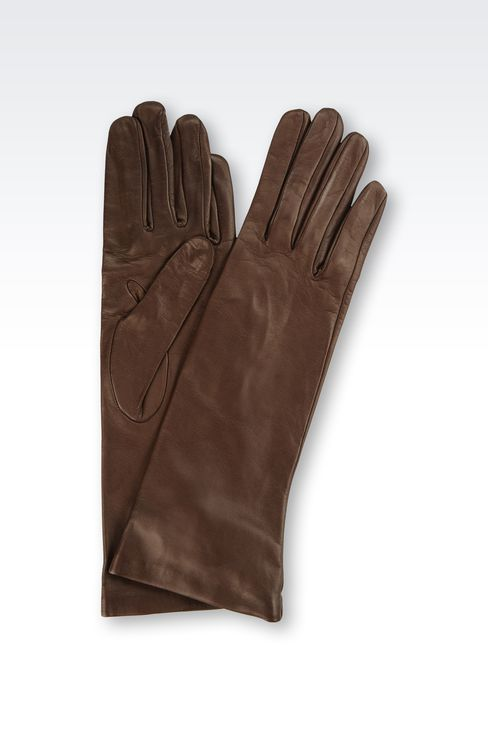 LONG NAPPA LEATHER GLOVES: Gloves Women by Armani - 1