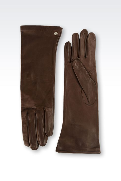 LONG NAPPA LEATHER GLOVES: Gloves Women by Armani - 2