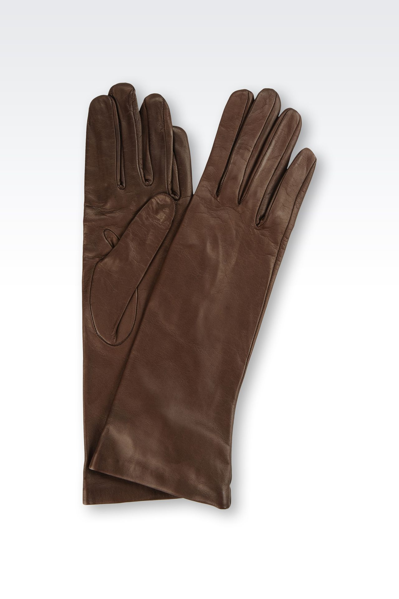 LONG NAPPA LEATHER GLOVES: Gloves Women by Armani - 0