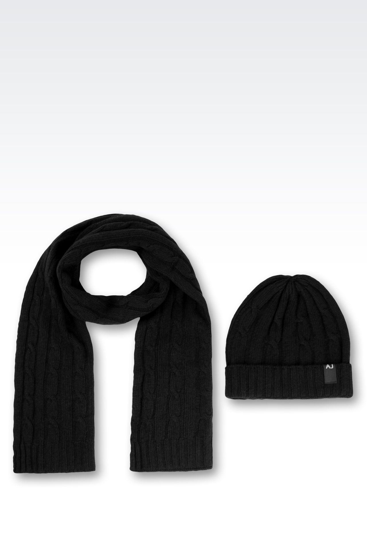 bonnet echarpe armani femme