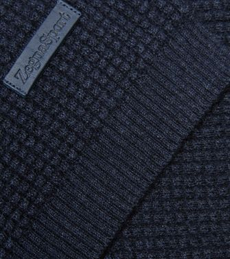 ZEGNA SPORT: Scarf Blue - Light grey - 46309851EP