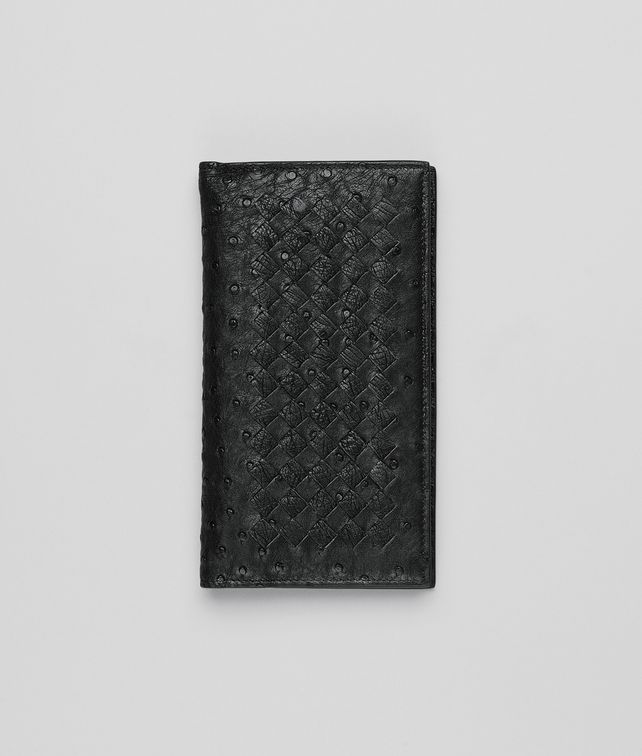 Ardoise Antique Ostrich Continental Wallet