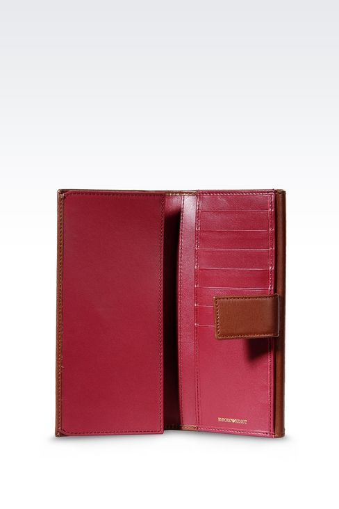 CONTINENTAL WALLET IN BOARDED LEATHER: Wallets Women by Armani - 3