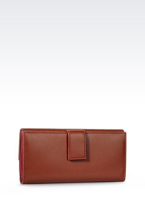 CONTINENTAL WALLET IN BOARDED LEATHER: Wallets Women by Armani - 2