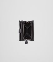 Portafoglio Nero in Nappa Intrecciata