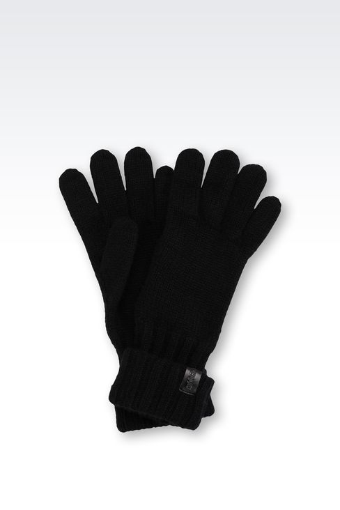 CASHMERE GLOVES: Gloves Men by Armani - 1