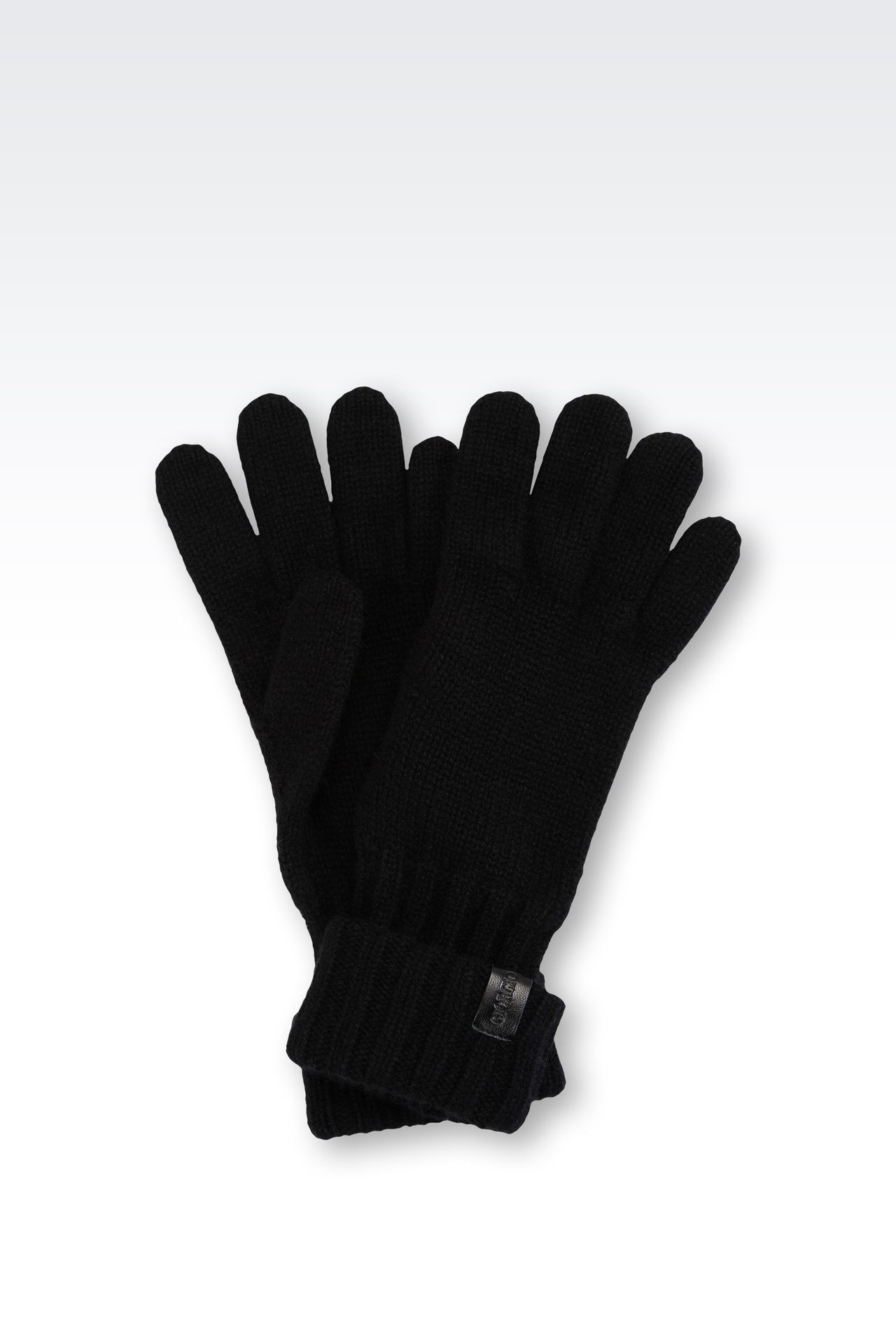 CASHMERE GLOVES: Gloves Men by Armani - 0