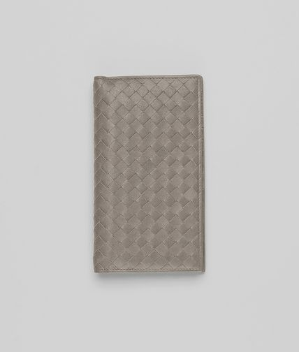 BOTTEGA VENETA - Fume Intrecciato Washed Lambskin Continental Wallet