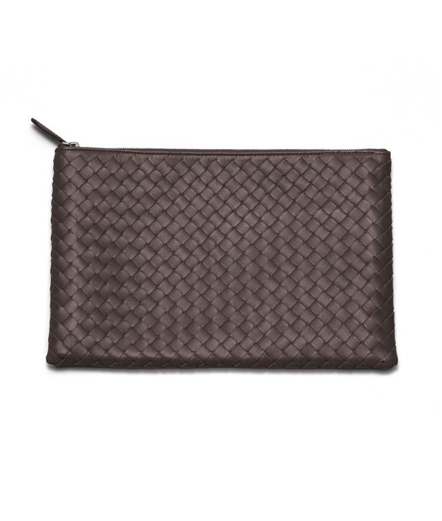 BOTTEGA VENETA DOCUMENT CASE IN EBANO INTRECCIATO NAPPA Other Leather Accessory E fp