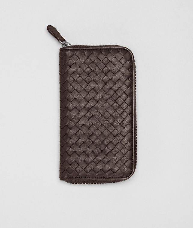 Ebano Intrecciato Nappa Zip Around Wallet