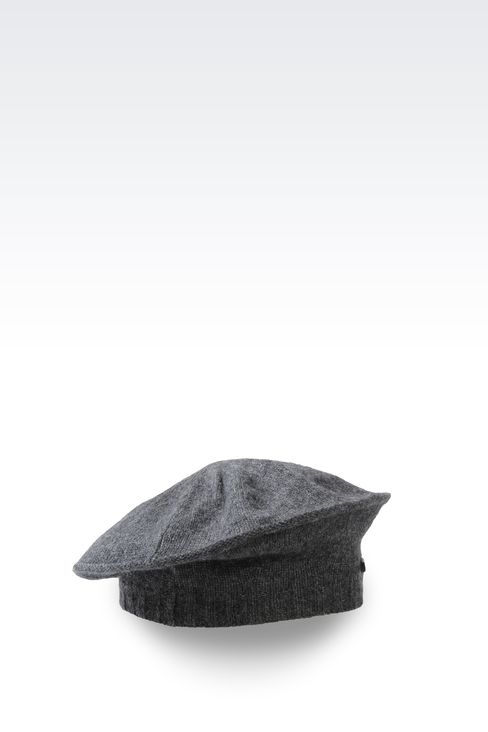 CASHMERE BERET WITH LOGO: Hats Women by Armani - 2