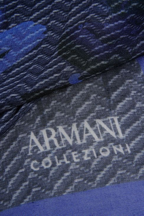 MODAL SCARF WITH ABSTRACT PATTERN: Foulards Women by Armani - 3