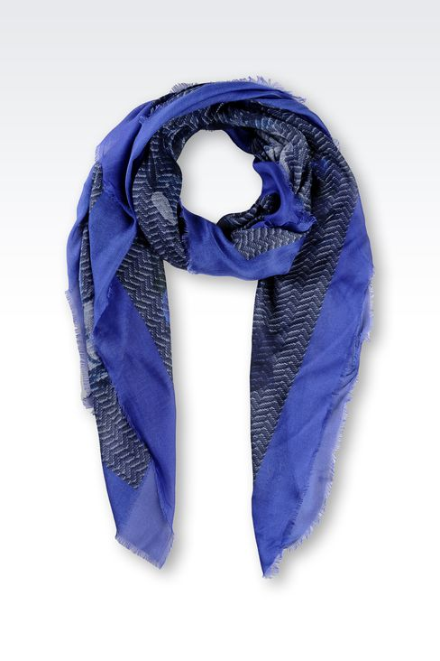 MODAL SCARF WITH ABSTRACT PATTERN: Foulards Women by Armani - 1