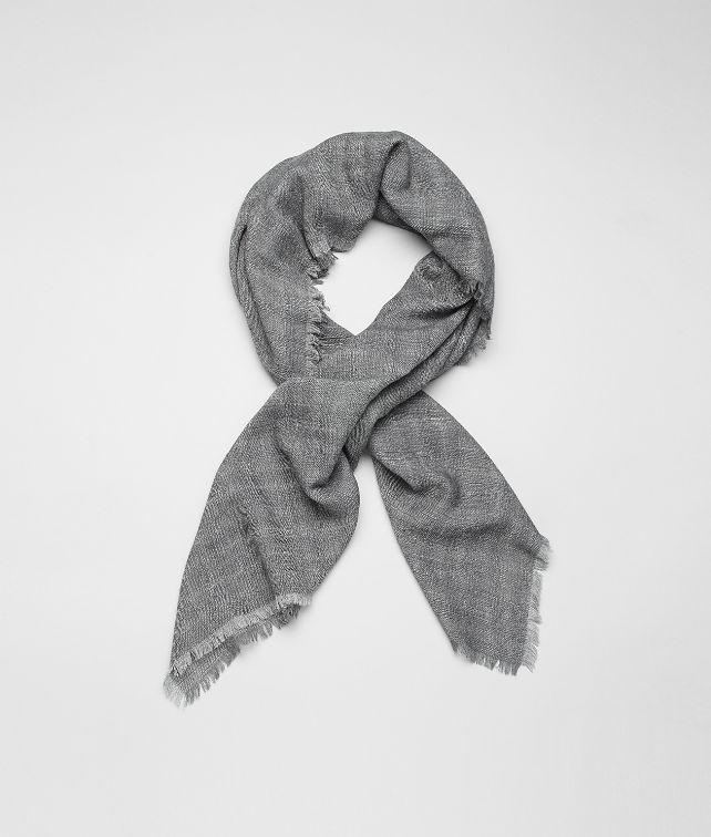 Reseda Dark Grey Wool Silk Scarf