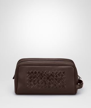 Edoardo Ebano Light Calf Soft Crocodile Fumé Toiletry Case