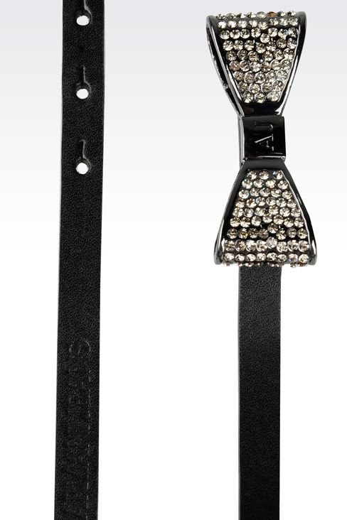 Belts: Leather belt Women by Armani - 2