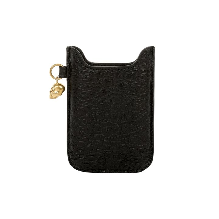 Alexander McQueen, Toad Leather Skull Charm Phone Case