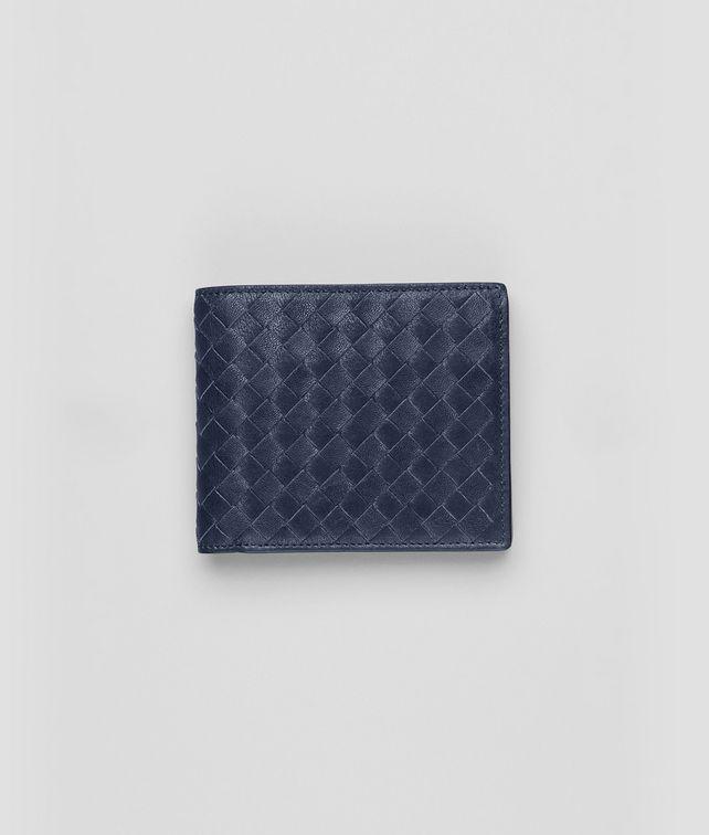 Portemonnaie aus gewaschenem Lammleder Intrecciato Prusse