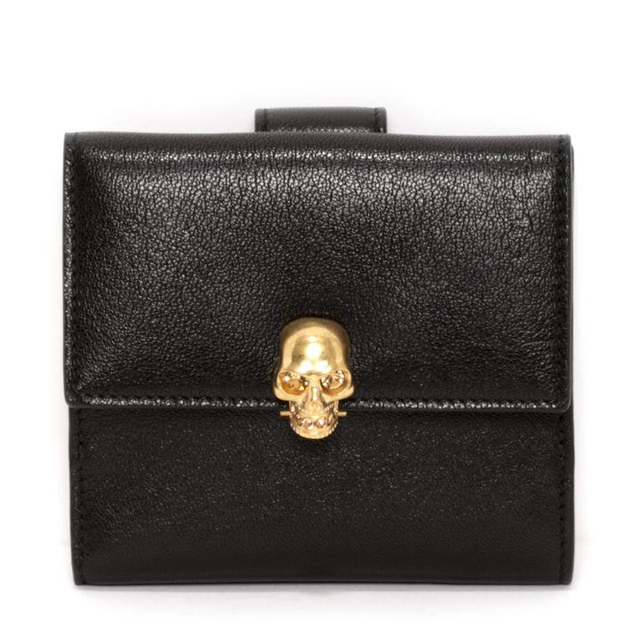 Alexander McQueen, Petit portefeuille avec fermoir Skull