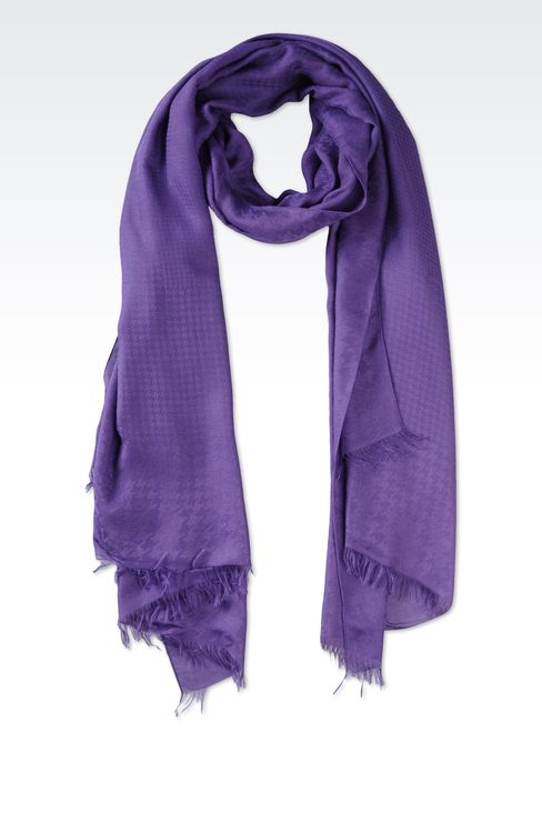 FRINGE SCARF IN VISCOSE AND MODAL: Scarves Women by Armani - 1