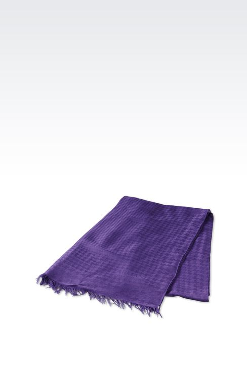 FRINGE SCARF IN VISCOSE AND MODAL: Scarves Women by Armani - 2