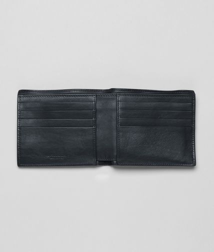 BOTTEGA VENETA - Tourmaline Light Calf Soft Crocodile Fume Wallet