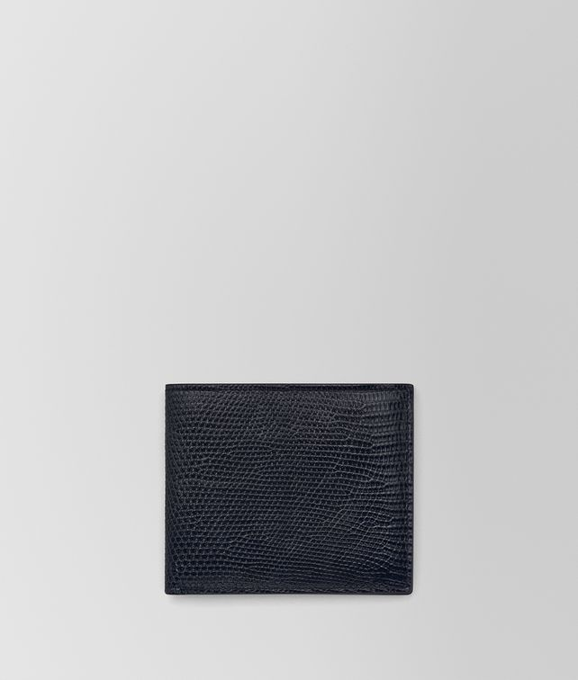 BOTTEGA VENETA WALLET IN TOURMALINE LIZARD Bi-fold Wallet U fp