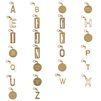 Schlüsselring mit Buchstaben-Anhänger