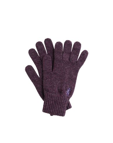 Fine Cashmere Knit Logo Gloves
