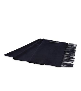 ERMENEGILDO ZEGNA: Scarf Blue - Steel grey - 46319488PM