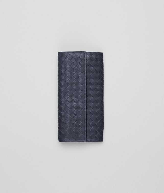 Prusse Intrecciato Washed Lambskin Continental Wallet