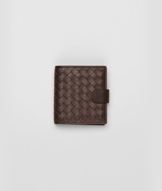 Ebano Intrecciato Nappa French Flap Mini Wallet