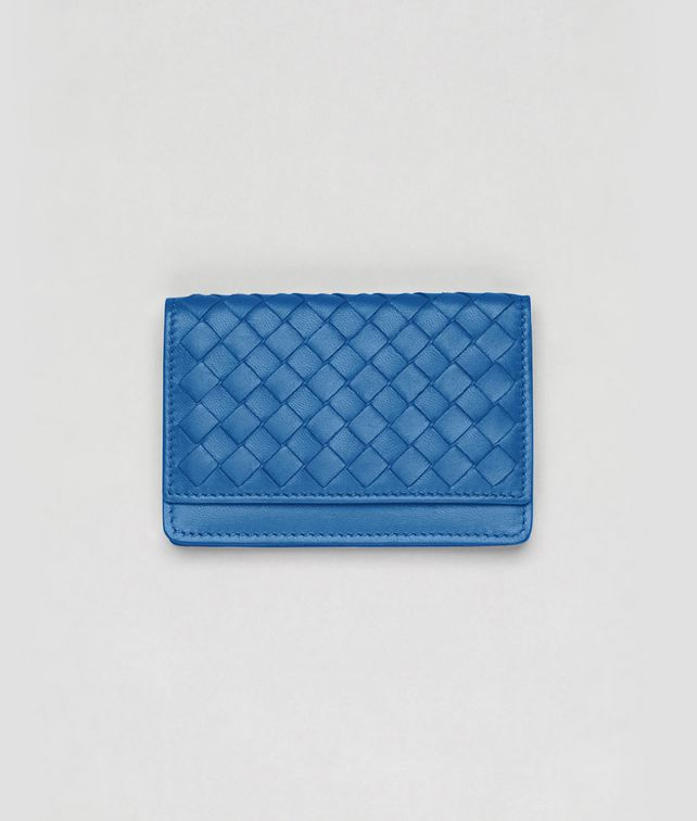 BOTTEGA VENETA Électrique Intrecciato Nappa Card Case Mini Wallet or Coin Purse D fp