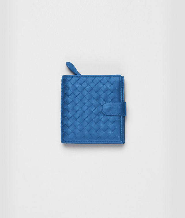 BOTTEGA VENETA Électrique Intrecciato Nappa French Flap Wallet Mini Wallet or Coin Purse D fp
