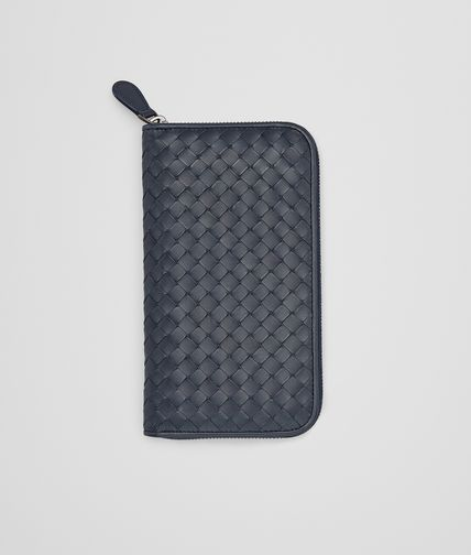 BOTTEGA VENETA - Prusse Intrecciato Vachette Zip Around Wallet