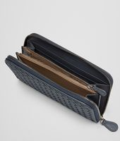 Prusse Intrecciato Vachette Zip Around Wallet