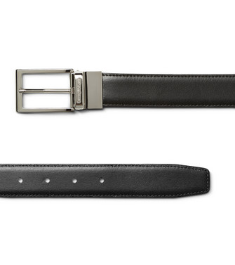 ERMENEGILDO ZEGNA: Belt Black - Dark brown - 46325698KX