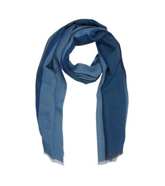 ERMENEGILDO ZEGNA: Scarf Blue - Dark brown - 46325734FQ