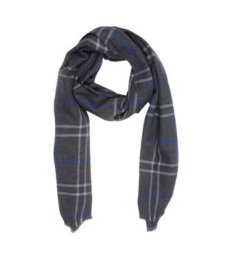 ERMENEGILDO ZEGNA: Scarf Blue - Dark brown - 46325736OI