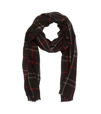 ERMENEGILDO ZEGNA: Scarf Blue - Dark brown - 46325743CI