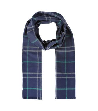 ERMENEGILDO ZEGNA: Scarf Blue - Dark brown - 46325744OD
