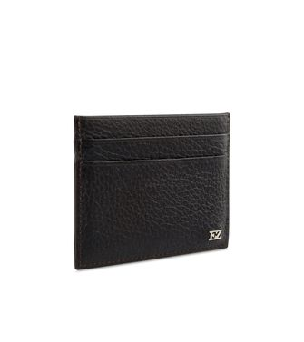 ERMENEGILDO ZEGNA: Credit Card Holder Black - Blue - 46325768NL